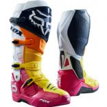 Fox Instinct Idol Anaheim A1 Limited Edition Motocross Boots Pink Navy Yellow